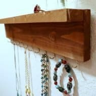 Make a Wood Jewelry Organizer with a Shelf