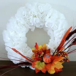 Fall Dollar Store Coffee Filter Wreath