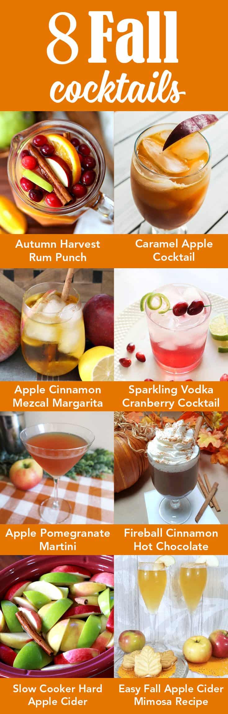 8 fall cocktails