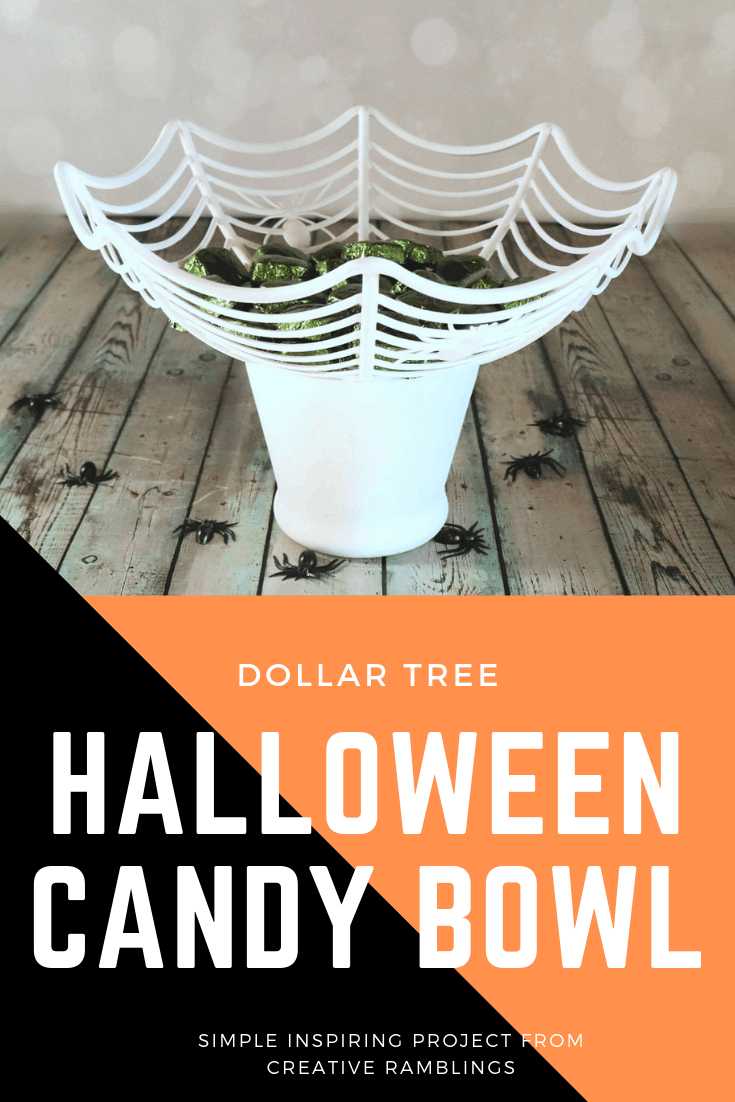 halloween candy bowl dollar tree pin 1