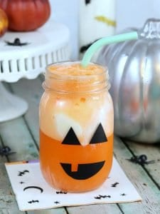 halloween mason jar jack o lantern