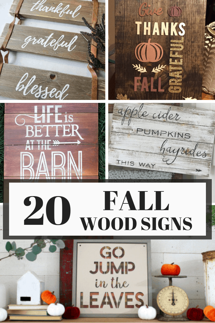 20 FALL WOOD SIGNS YOU CAN MAKE