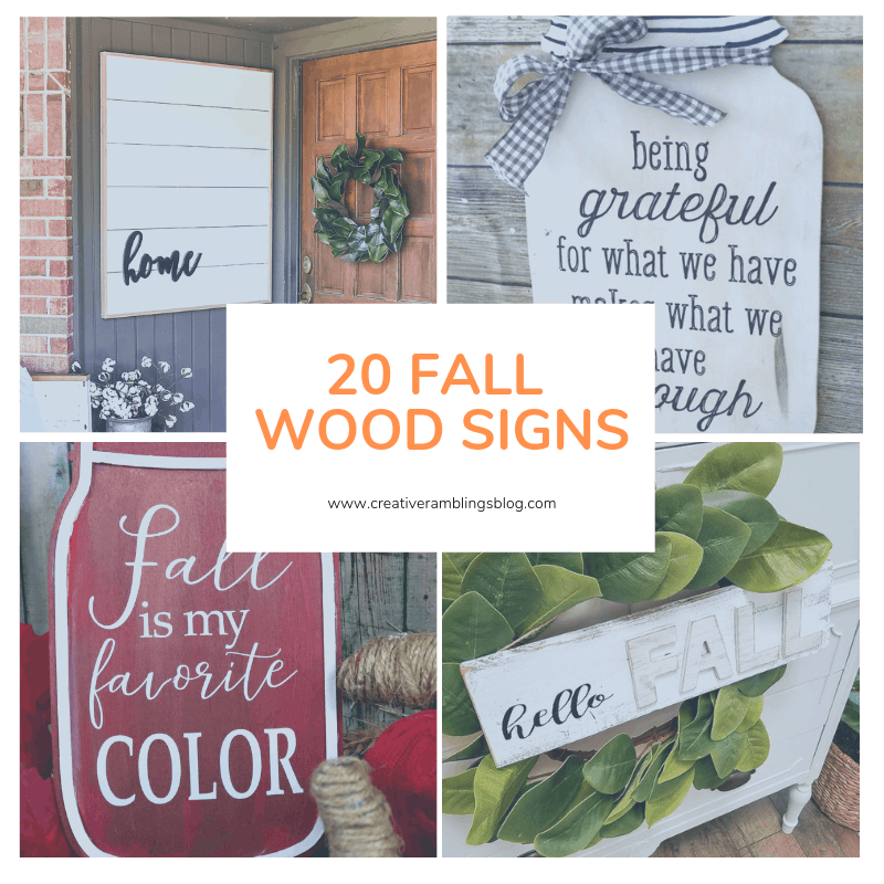 20 fall wood signs square