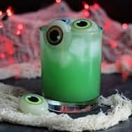 Green Witches Brew Halloween Cocktail