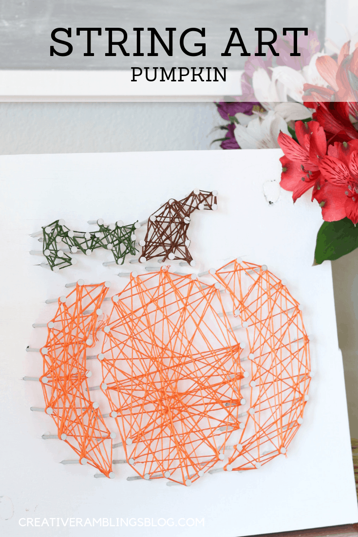 Fall string art pumpkin
