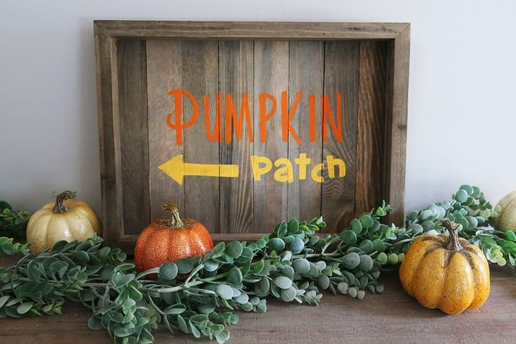 pumpkin patch sign stencil