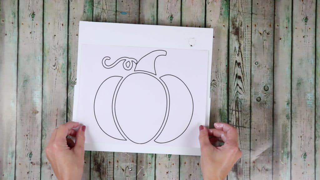 string art pumpkin template