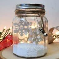 Dollar Store Winter Scene in a Jar