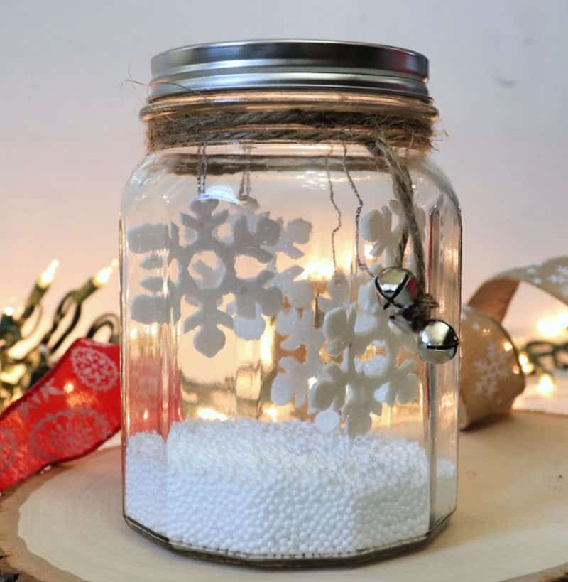 winter scene in a jar - creative ramblings