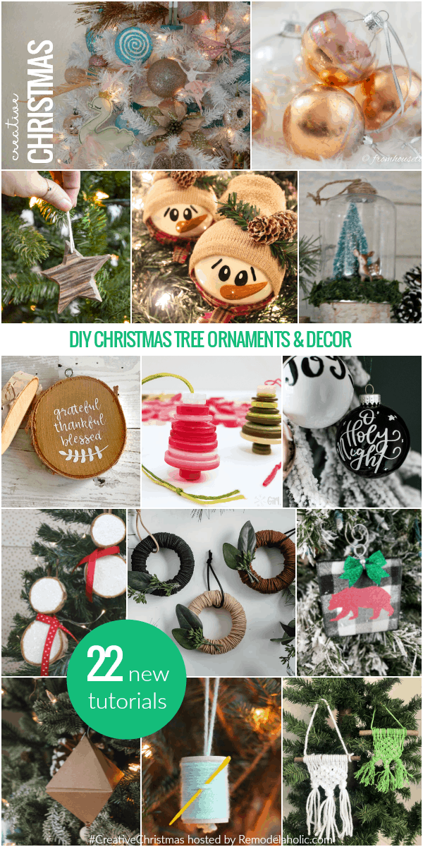 DIY Christmas tree ornaments and decor