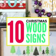 10 DIY Christmas Signs