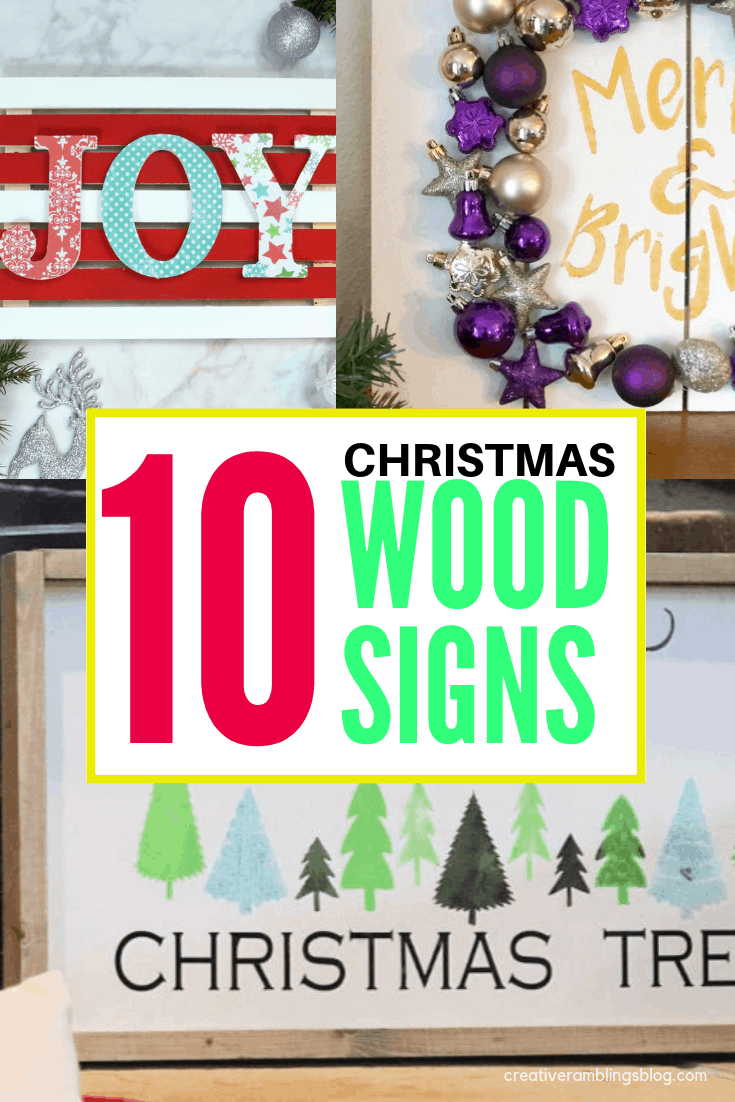 10 DIY christmas wood signs collage 3