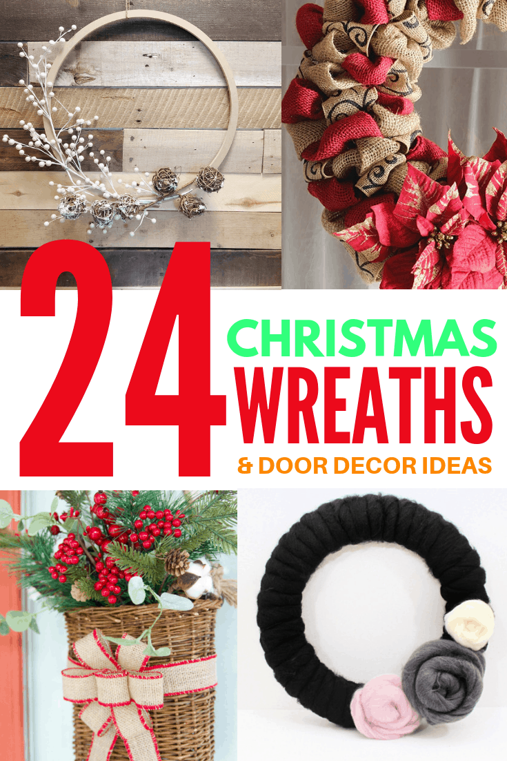 24 christmas wreaths and door decor 4