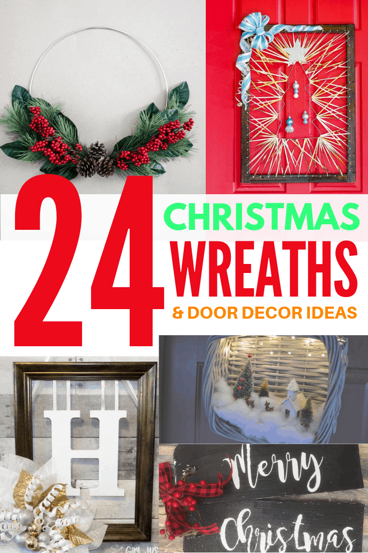 24 christmas wreaths and door decor ideas 1
