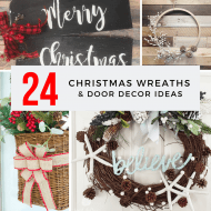 24 Christmas Wreaths and Door Decor