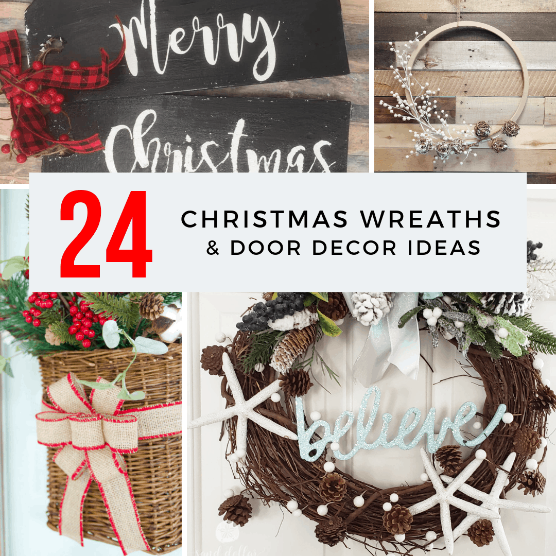 24 christmas wreaths and door decor ideas square