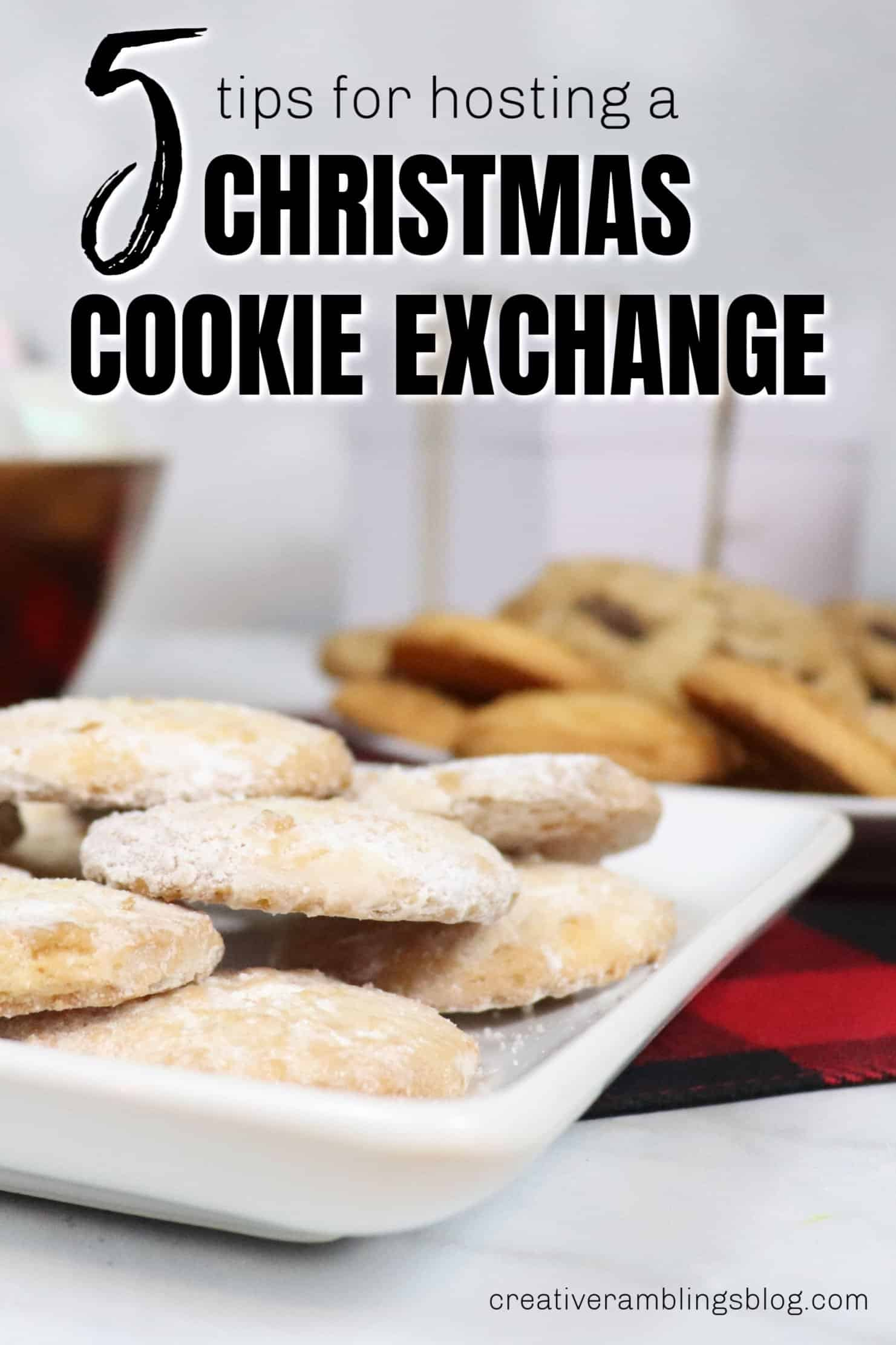 5 Tips for Hosting a Christmas Cookie Exchange pin