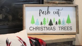 How to Build a Framed Wood Sign for Christmas