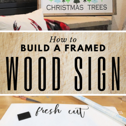 How to build a framed wood sign