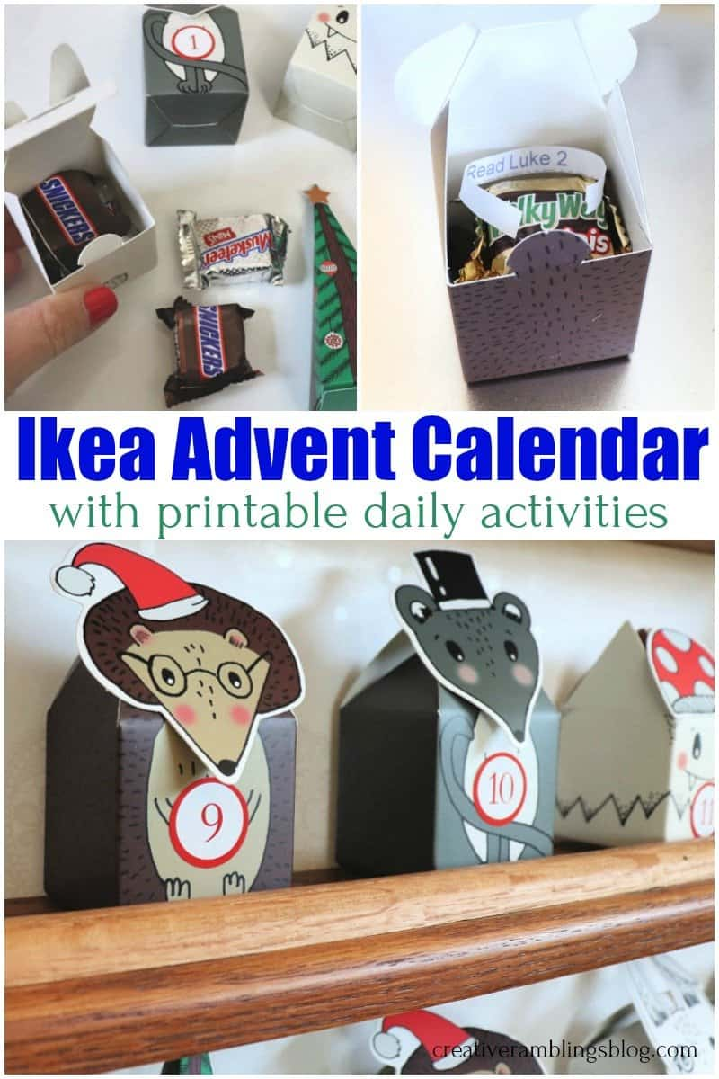 Ikea Advent Calendar with printable daily activities