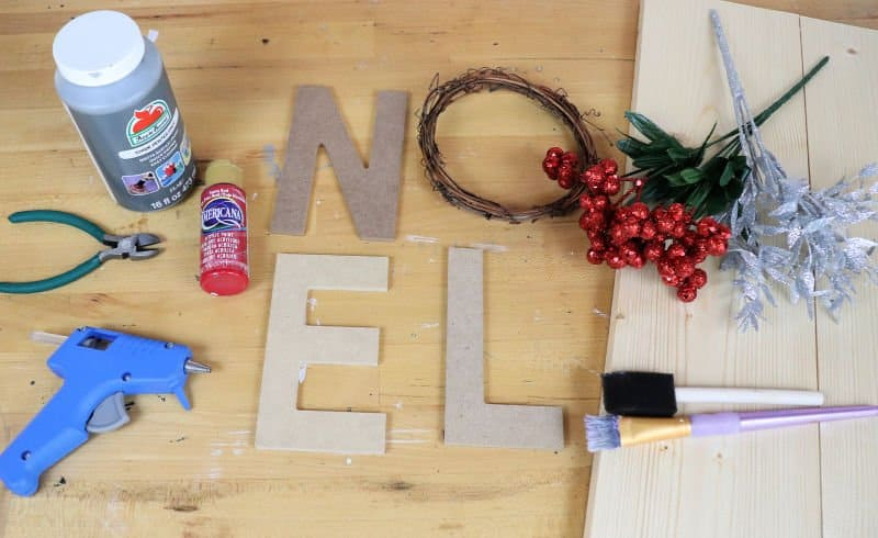 Noel wreath sign supplies