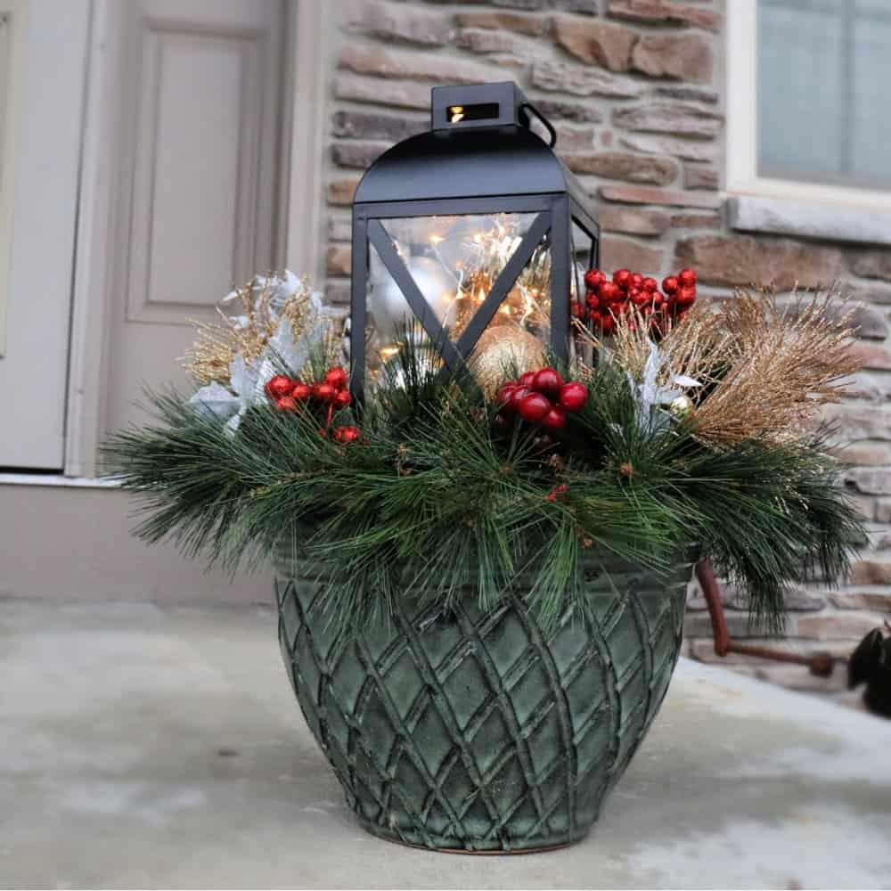 christmas planter square