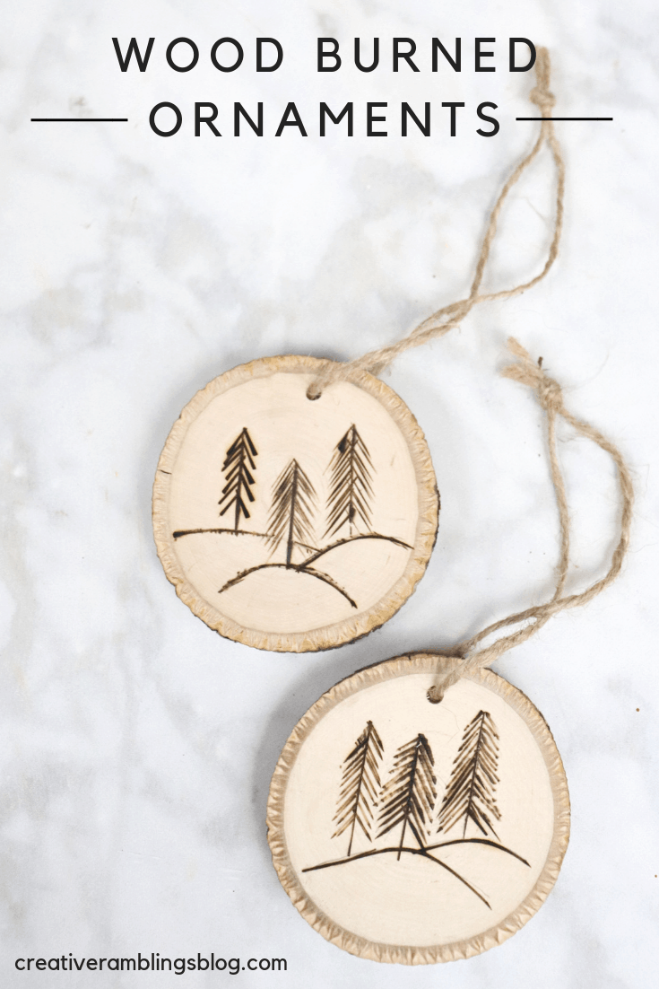 how to make wood burned ornaments