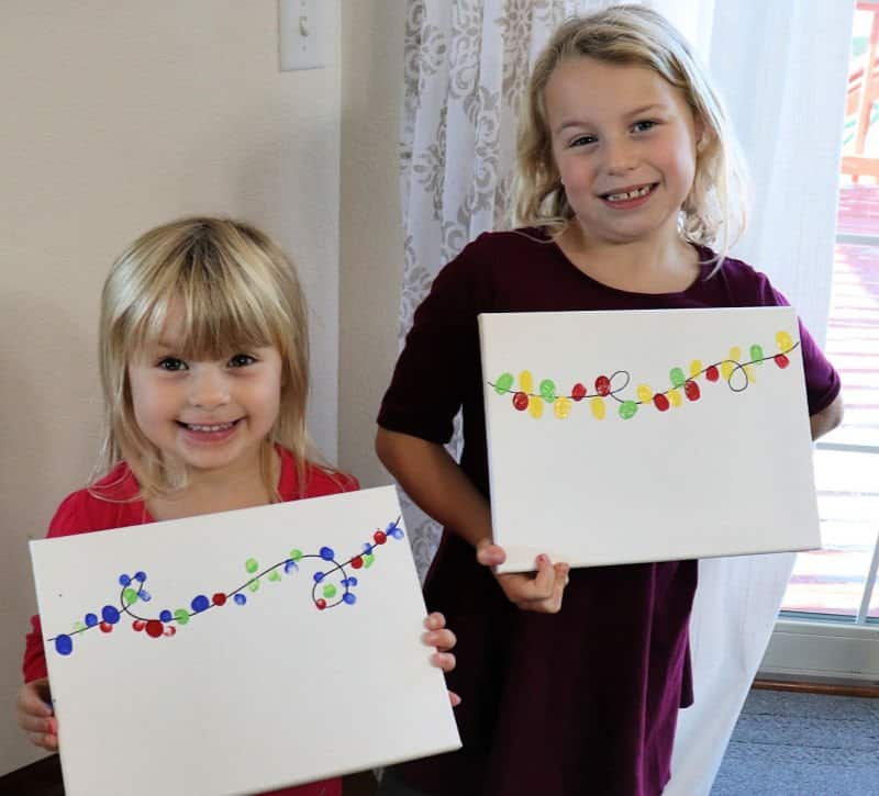 kids christmas craft fingerprint lights 5