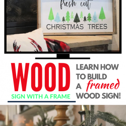 learn how to build a framed wood sign video tutorial