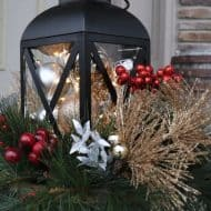 Outdoor Christmas Planter for your Front Porch