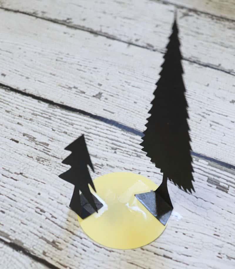 silhouette for winter mason jar
