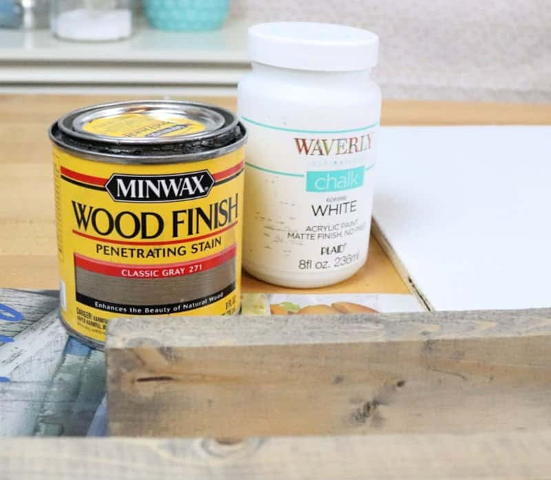 supplies for how to build a framed wood sign