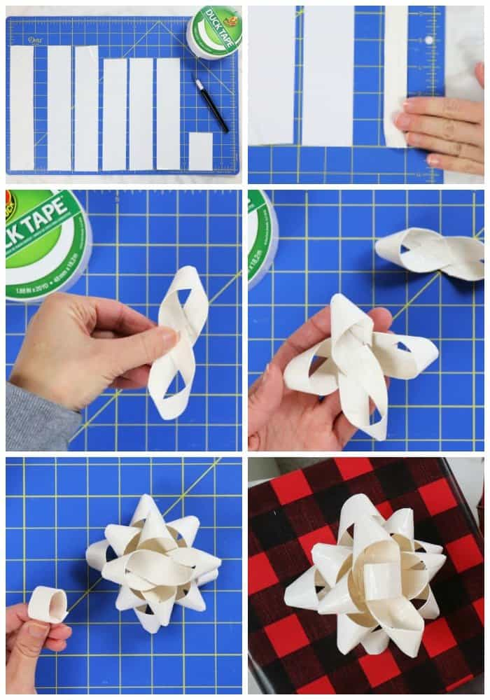 3 Creative Christmas Gift Wrapping Ideas - christmas gift bow steps