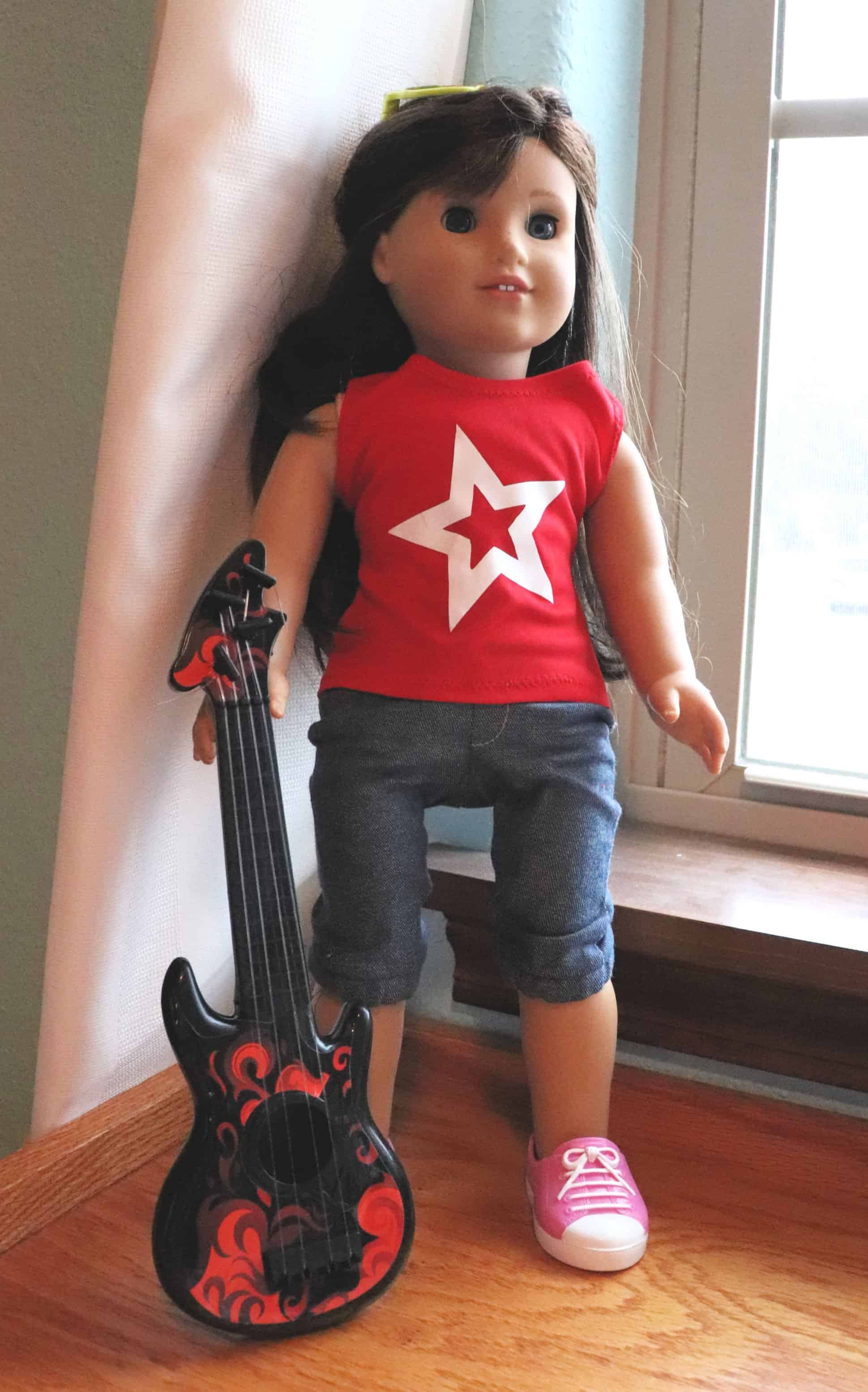 American girl dollar tree guitar