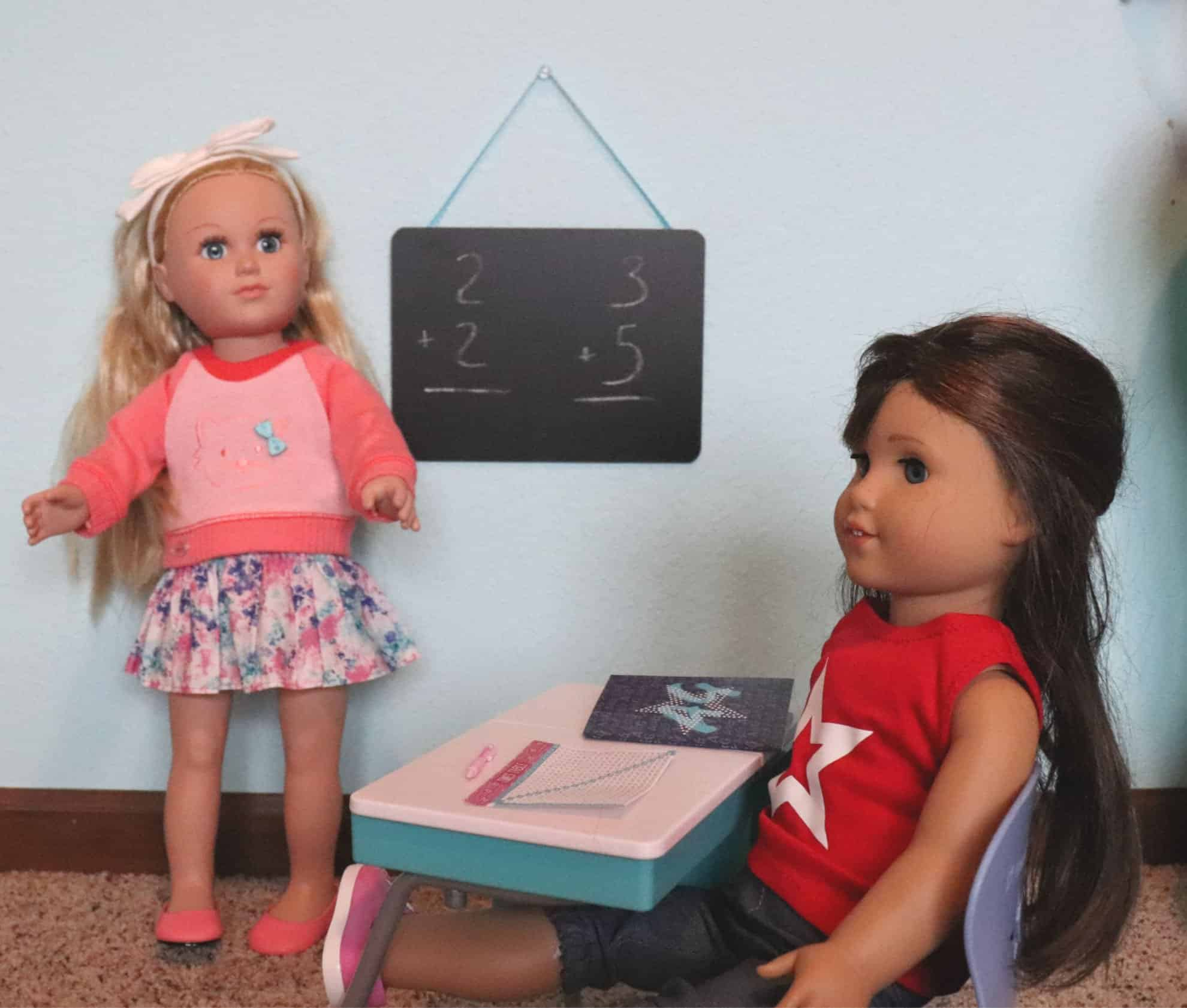 American girl dollar tree school