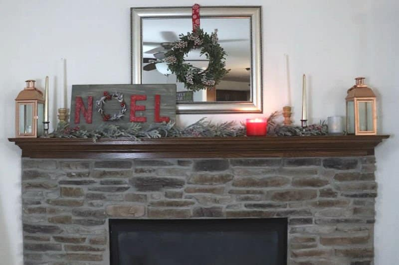Evergreen Christmas Mantle (1)