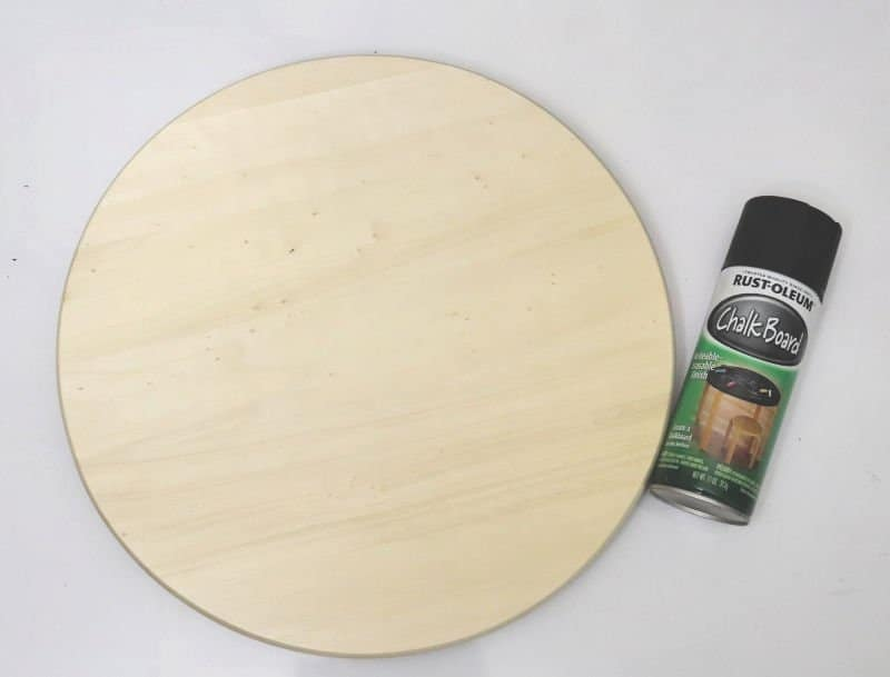 chalkboard lazy susan serving tray supplies