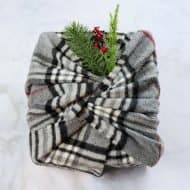 No Waste Gift Wrap with a Scarf