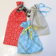 How to Sew a Drawstring Gift Bag