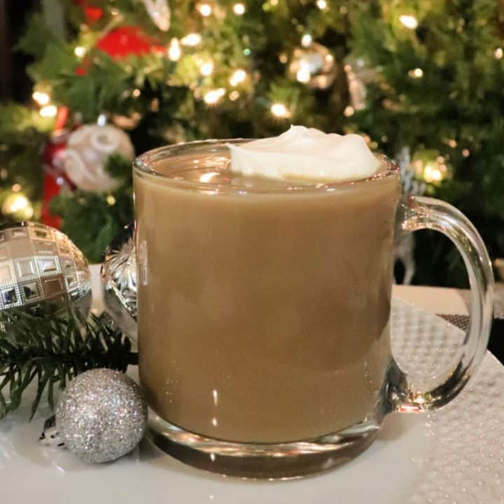 hot white russian christmas morning drink