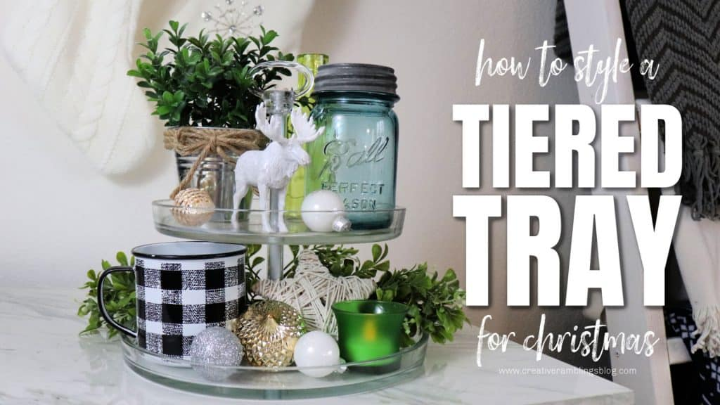 how to style a tiered tray for Christmas video cover