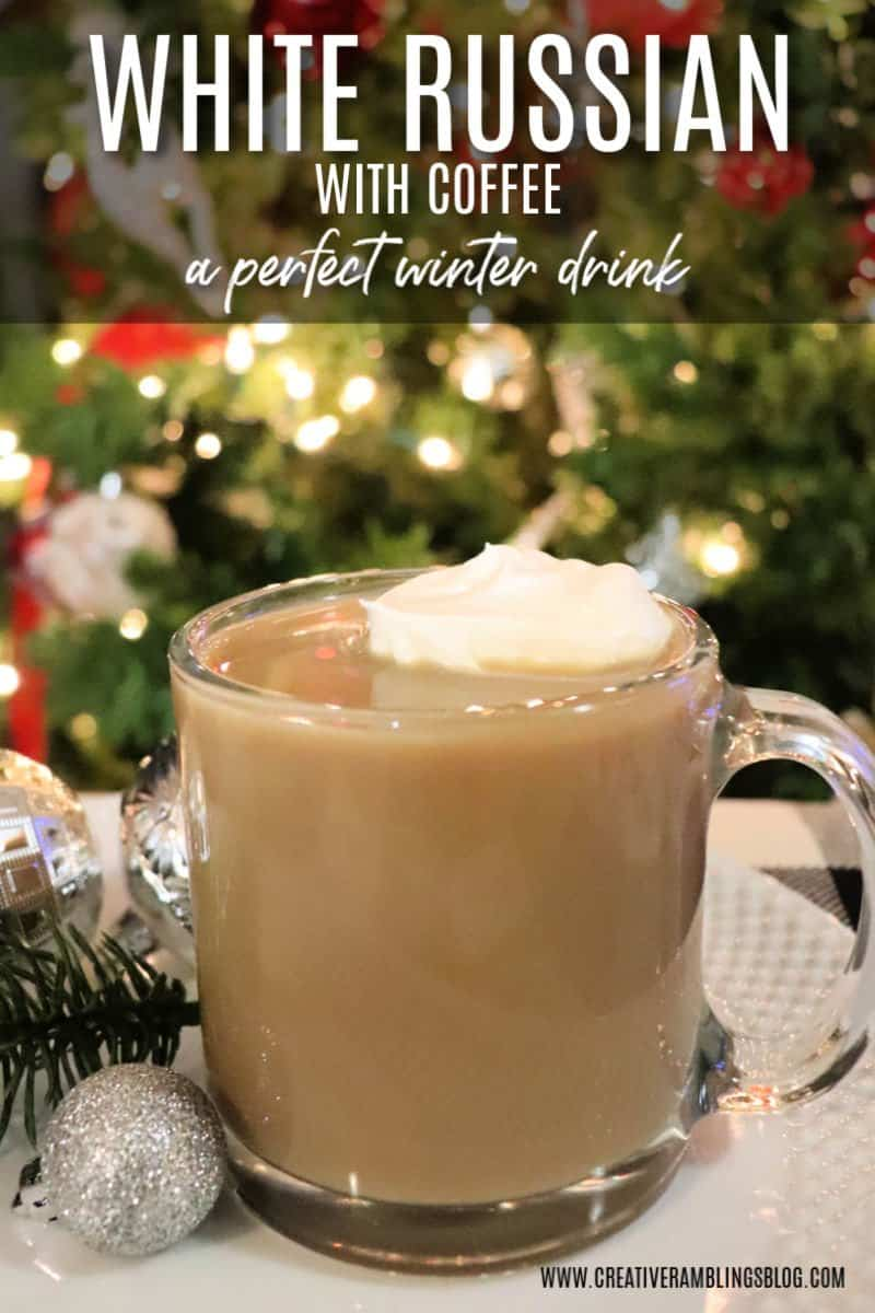 how white russian with coffee winter drink