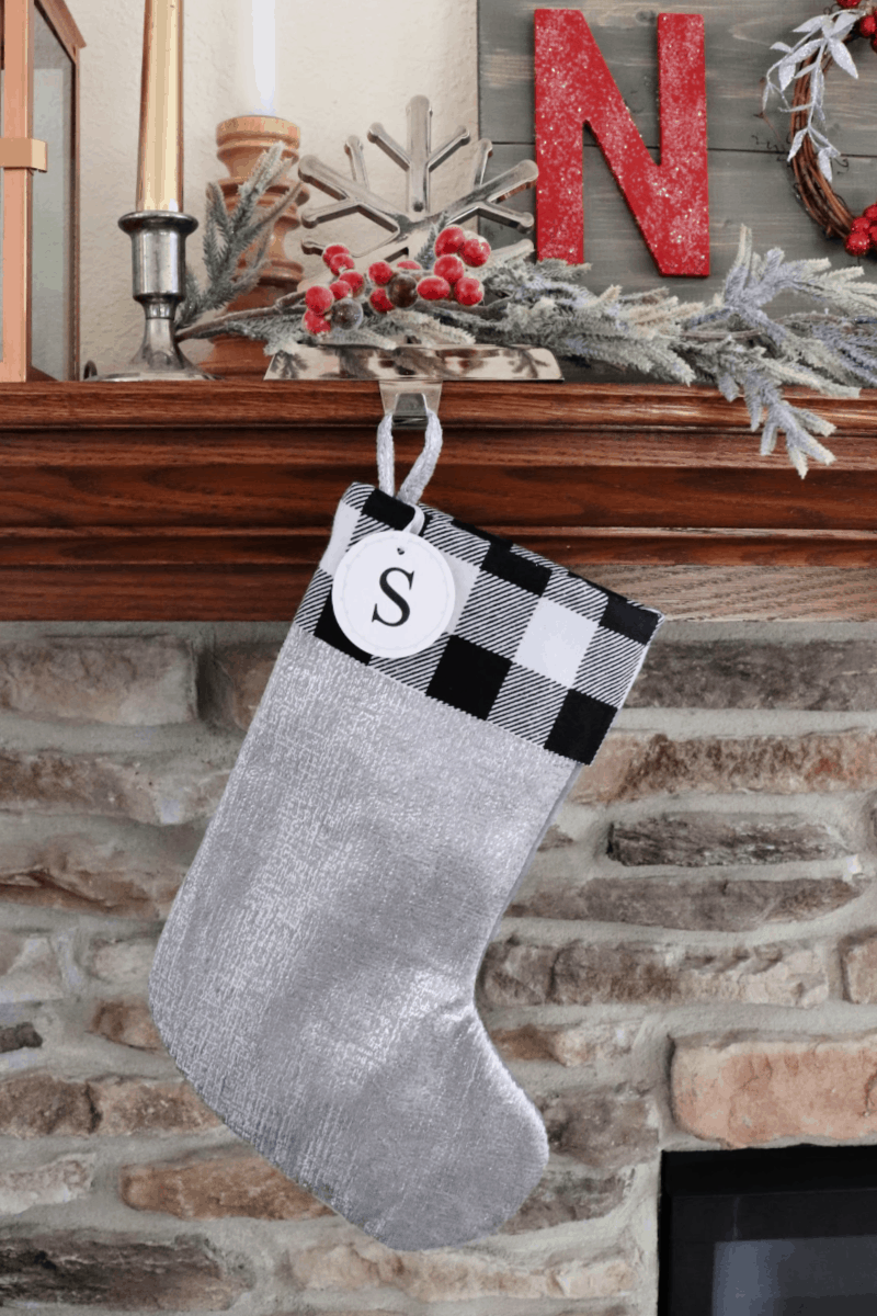 learn how to make a buffalo check stocking