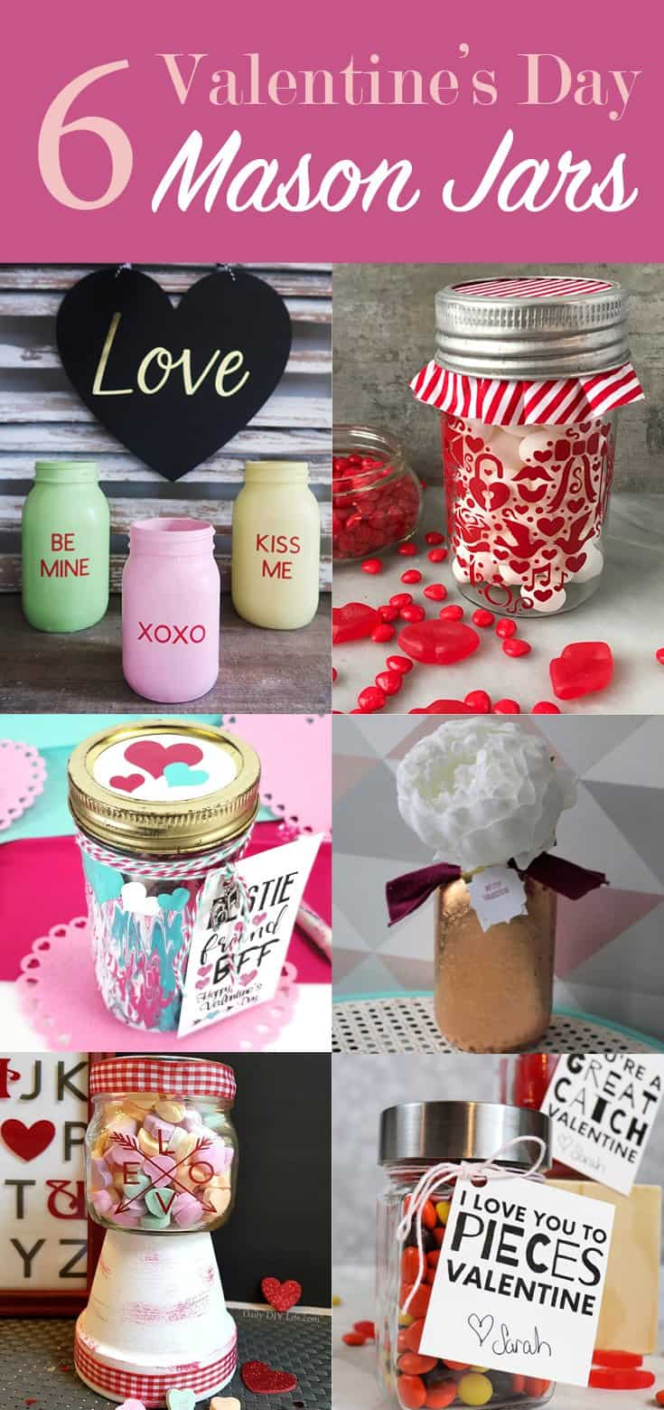 6 Valentine's Day Mason Jar