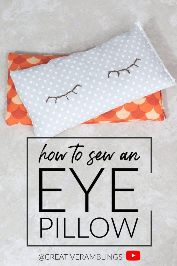 Learn how to sew a rice filled eye pillow
