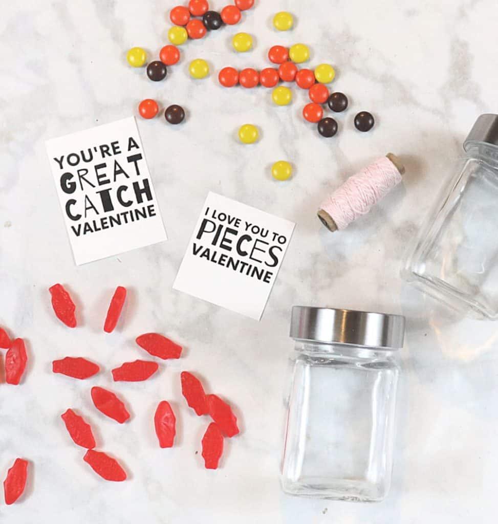 Printable Valentine puns - mason jar Valentine idea