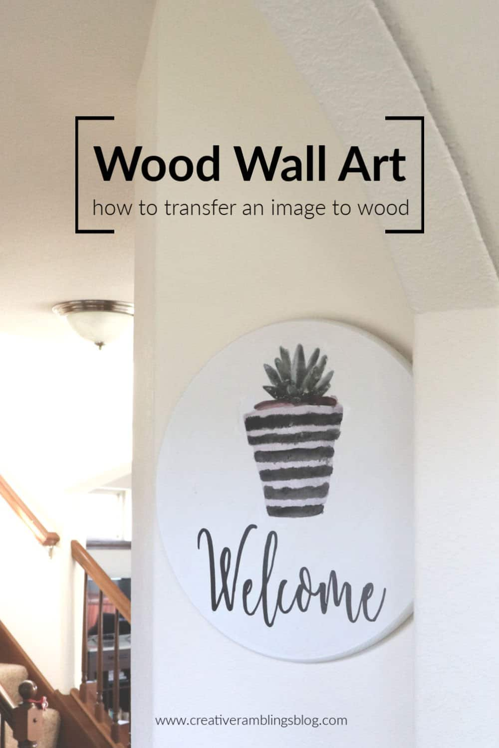 wood wall art - how to transfer an image to wood