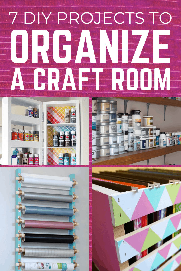 7 DIY projects to organize a craft room