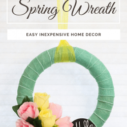 Dollar Tree Spring Wreath