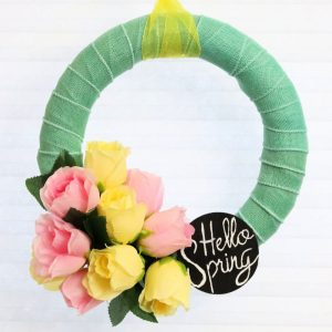 Dollar Store Spring Wreath -Creative Ramblings